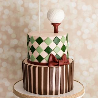 Vintage Golf Birthday Cake