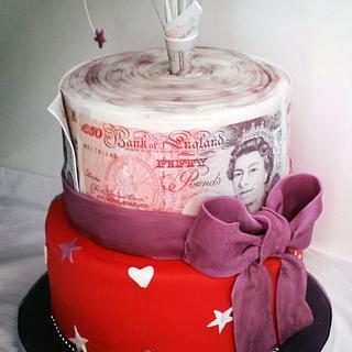 Cash Roll Cake