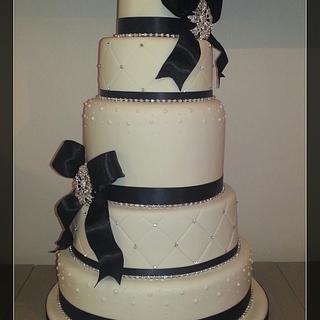 Black, Ivory, Diamante! - Cake by Cake Supreme Ipswich