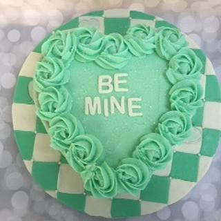 Be Mine Valentine Heart Cake (made with cupcakes in a heart shaped pan)