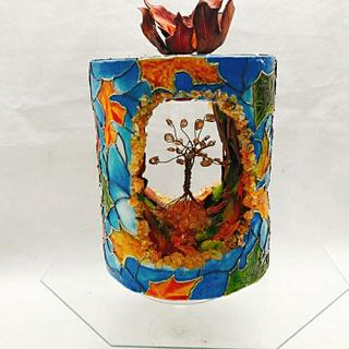 Stained Glass Autumn - Cake by Solana Falletti (Sol)