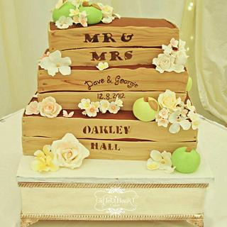 Apple Crate Wedding Cake