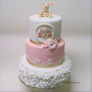 Christening Cake - Cake by Reckless Cake Art