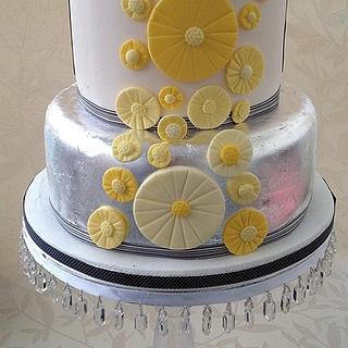 Silver Leaf and Lemon cake