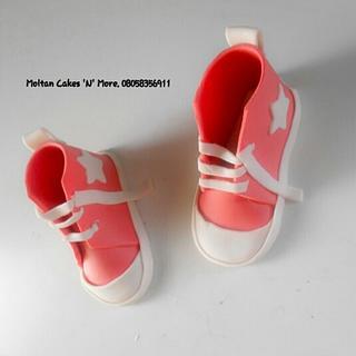 Gum paste Converse shoes