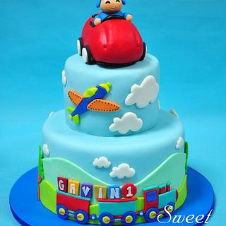 Pocoyo Transportation Cake