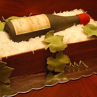 Wine Crate Cake!
