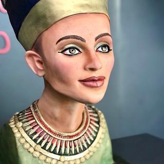 Nefertiti Bust Cake 'Egypt Land of Mystery Collabration'