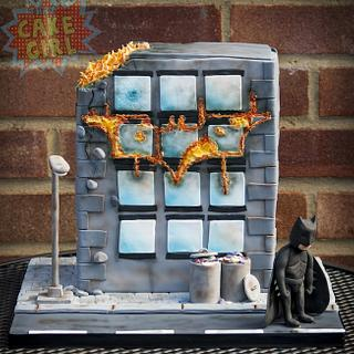 Batman Fire Cake - Cake by Rachel White