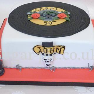 Guns N Roses 50th cake