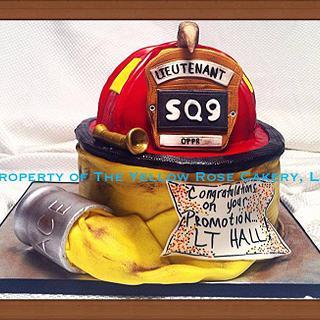 Fire Helmet - Cake by The Yellow Rose Cakery, LLC