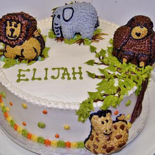 Jungle cake in 100% buttercream - Cake by Nancys Fancys Cakes & Catering (Nancy Goolsby)