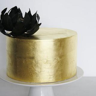 Gold Leaf with Black Magnolia