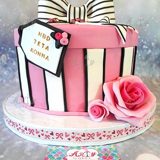 Ribbon cake by Arty cakes