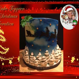 #Fondant Cake Topper Sweet Christmas Collaboration