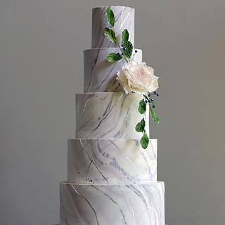 Marbled Wedding Cake - Cake by Shannon Bond Cake Design