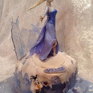 Elsa and Olaf - Cake by Silvia - SweetCakes