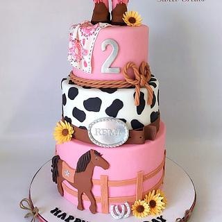 Ride 'em Cowgirl Cake - Cake by MimisSweetTreats