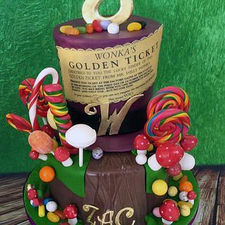 Zac - Willy Wonka Birthday Cake (and cupcakes)