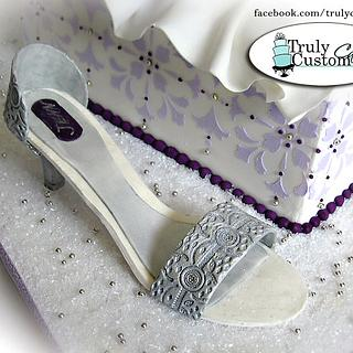 purple bridal shower