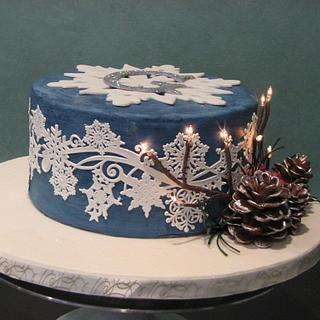 Sweet 16 Winter Wonderland cake