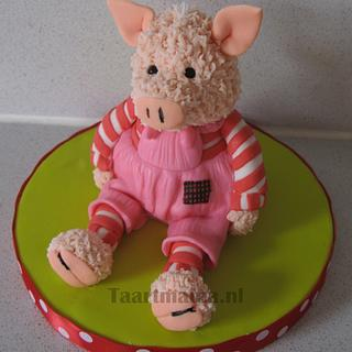 Stuffed pig - Cake by Taartmama