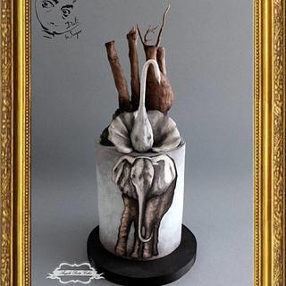 Swans Reflecting Elephants - Dali in Sugar