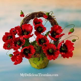 Basket of Sugar Poppies