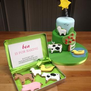 Farmyard Cake and Cookies