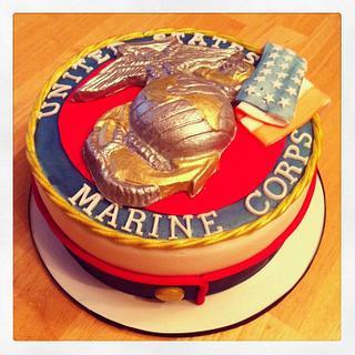 Marine Corps Cake - Cake by Becky Pendergraft