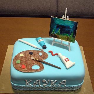 Birthday cake-painter