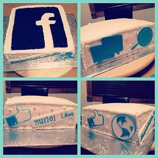 Facebook cake - Cake by Jertysdelight