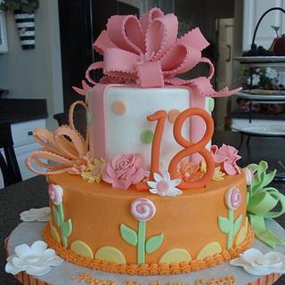 Colorful 18th Birthday Cake