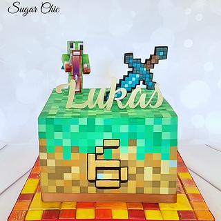 x Minecraft Block Cake x - Cake by Sugar Chic