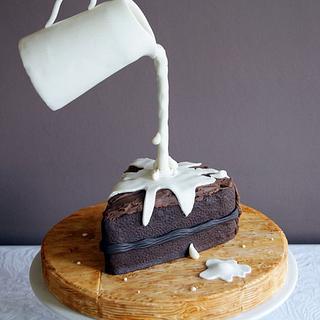Gravity Defying Chocolate Cake