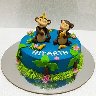 Naughty Monkeys - Cake by Urvi Zaveri