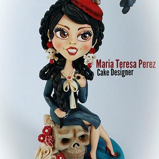 Merlina  - Cake by Maria  Teresa Perez