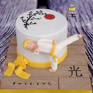 Karate girl - Cake by M&G Cakes