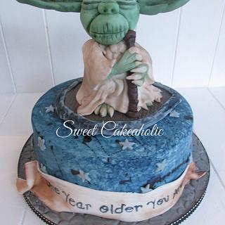 Yoda  - Cake by SweetCakeaholic1
