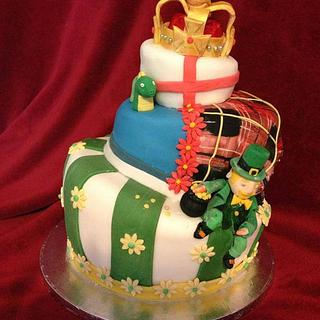 England, Ireland, Scotland - Cake by emma