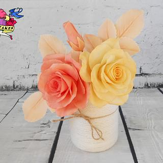 Roses in spring colors