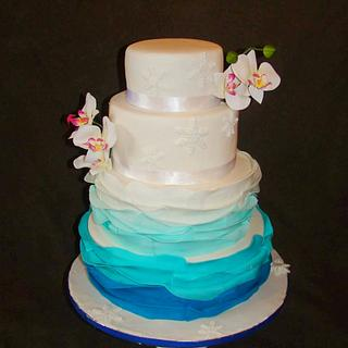 Ombre theme Bridal Shower cake
