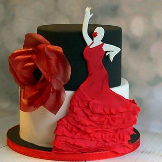 Texas Pride - Flamenco - Cake by South Austin Cakes