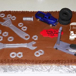 Mechanic Cookie Cake