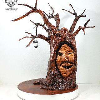 Single tooth witch tree lady
