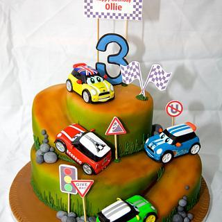 Racing car cake - Cake by Su