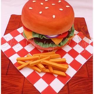 Hamburger cake!