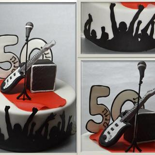 a birthday cake for a musician