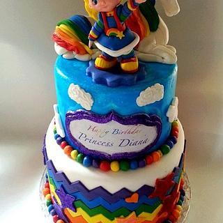 Rainbow Brite Cake - Cake by Karen