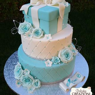Blu Tiffany - Cake by Dolcidea creazioni